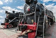 Винтажный поезд пара Стоковое Изображение