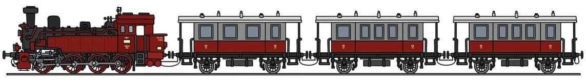 Винтажный поезд пара Стоковые Изображения RF