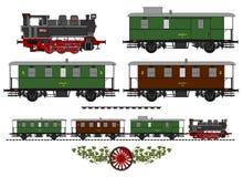 Винтажный поезд Стоковая Фотография