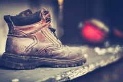 Винтажный покинутый ботинок Стоковое Изображение
