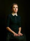 Винтажный портрет женщины стоковое изображение