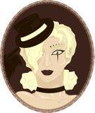 Винтажный портрет довольно белокурой девушки цирка Стоковое Изображение
