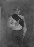 Винтажный портрет солдата гражданской войны Стоковое Изображение RF