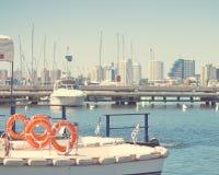 Винтажный порт яхты Стоковая Фотография