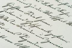 Винтажный почерк античная рукопись постаретая бумага Стоковые Фотографии RF