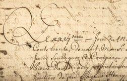 Винтажный почерк с латинским текстом предпосылка детализировала сбор винограда текстуры пятен разрешения grunge высокий бумажный Стоковая Фотография RF