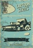 Винтажный плакат автомобиля Стоковое фото RF