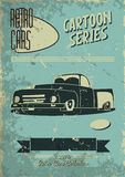 Винтажный плакат автомобиля Стоковые Фото