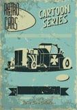 Винтажный плакат автомобиля Стоковые Изображения RF