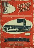 Винтажный плакат автомобиля Стоковая Фотография