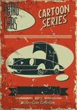 Винтажный плакат автомобиля Стоковое Изображение RF