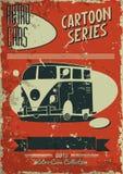 Винтажный плакат автомобиля Стоковое Фото