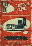 Винтажный плакат автомобиля Стоковая Фотография RF