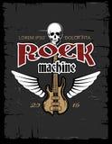 Винтажный плакат вектора тяжелого рока, рогулька, дизайн футболки Стоковая Фотография RF