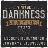 Винтажный плакат вискиа темноты Стоковая Фотография
