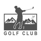 Винтажный плакат гольфа с игроком гольфа Стоковая Фотография