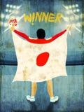 Винтажный плакат, знамя или рогулька для концепции спорт Стоковая Фотография RF
