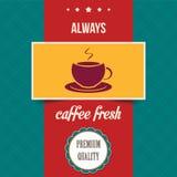 Винтажный плакат кофе Стоковые Фотографии RF