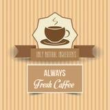 Винтажный плакат кофе Стоковое фото RF