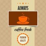 Винтажный плакат кофе Стоковое Изображение RF