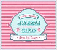 Винтажный плакат магазина помадок Стоковое Фото
