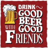 Винтажный плакат питья Стоковая Фотография