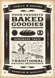 Винтажный плакат хлебопекарни Стоковые Изображения RF
