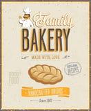 Винтажный плакат хлебопекарни. Стоковое Изображение