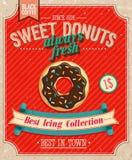 Винтажный плакат Donuts. Стоковая Фотография RF