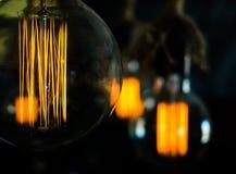 Винтажный раскаленный добела тип шарики Edison Стоковое фото RF