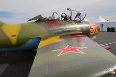 Винтажный реактивный истребитель MIG-15 Стоковое Изображение RF