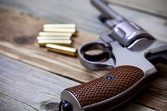 Винтажный револьвер nagant Стоковое Изображение RF
