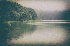 Винтажный ретро ландшафт Стоковое фото RF