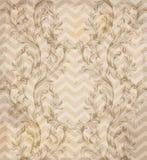 Винтажный ретро вектор картины дизайн орнаментирует предпосылку ткани Стоковое Изображение