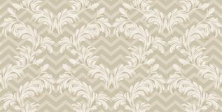 Винтажный ретро вектор картины предпосылки ткани орнамента дизайна Стоковое Изображение