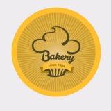 Винтажный ретро значок хлебопекарни Стоковое Изображение