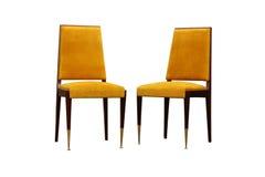 Винтажный роскошный изолированный стул стиля стиля Арт Деко Стоковое Фото