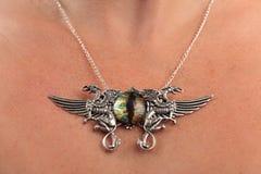 Винтажный самоцвет cateye грифона ожерелья Стоковая Фотография RF