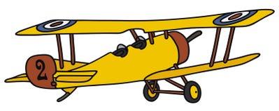 Винтажный самолет-биплан Стоковые Изображения