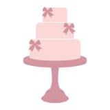 Винтажный свадебный пирог Стоковое Изображение