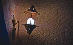 Винтажный светильник лампы стены стоковое фото rf