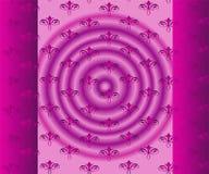 Винтажный свет - фиолетовая флористическая безшовная картина Стоковые Фото