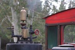 Винтажный свисток и деталь поезда пара Стоковое фото RF