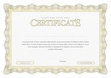 Винтажный сертификат Дипломы шаблона, валюта Стоковые Фото