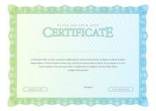Винтажный сертификат Дипломы шаблона, валюта Стоковое фото RF