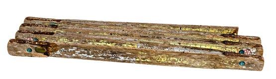Винтажный складывая метр Стоковое Изображение