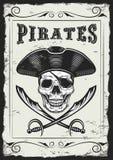 Винтажный смотреть приглашает шаблон для партии или событие с смертью или пиратствует бесплатная иллюстрация