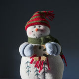 Винтажный снеговик плюша Стоковое Изображение RF