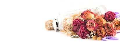 Винтажный состав высушенных цветков Стоковая Фотография