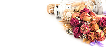 Винтажный состав высушенных цветков Стоковые Фото
